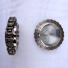 Motorcycle Chain Ashtray, Chain Ashtray, MC Ashtray, Motorcycle Ashtray