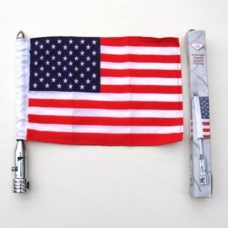 Motorcycle Flagpole with USA Flag 6 x 9, Motorcycle Flagpoles, Harley Flagpoles, Harley Davidson Flagpoles