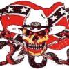Rebel Confederate Snake n Skull Flag, Rebel Flags, Confederate Flags, Skull Confederate Snake Flag