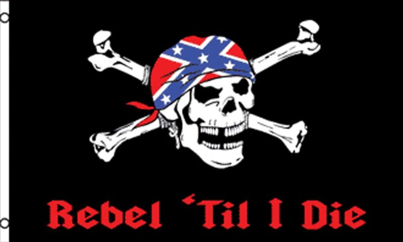 Rebel Til I Die Flag, Rebel Flags, Pirate Flags, Confederate Flags, Flags