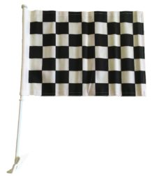 Black and White Checkered Car Flag