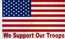 We Support Our Troops USA Flag, Military Flags, Our Troops Flag