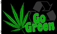 Go Green Flag, Novelty Flags, Pot Flags, Marijuana Flags, Weed Flags, Marijuana Leaf Flags, Flags