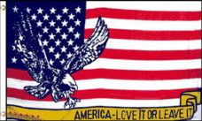 Love It Or Leave It Flag, Novelty Flags, America Love It Or Leave It Flag, Flags, USA Flags