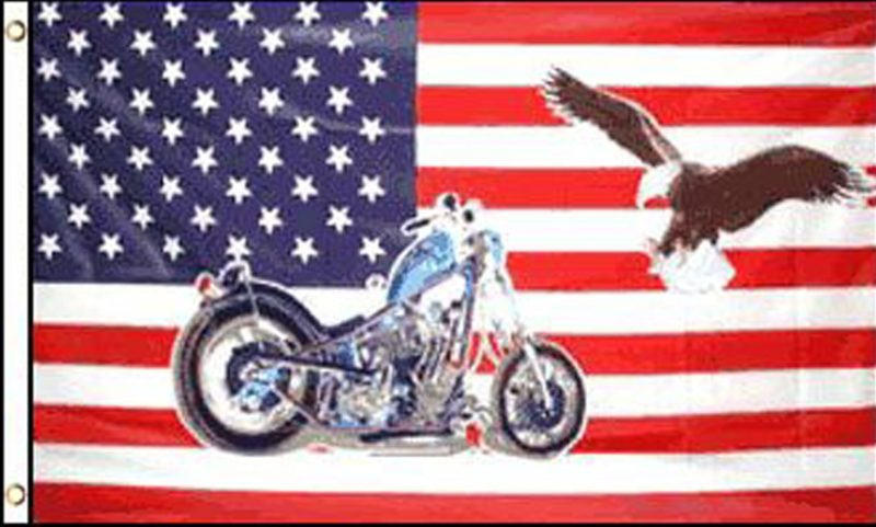 USA Motorcycle Eagle Flag, Novelty Flags, Motorcycle Flags, Eagle Flags, Flags, USA Flags