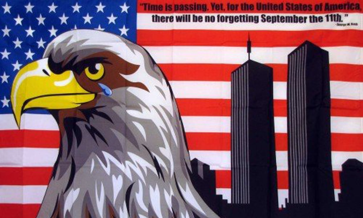 USA No Forgetting 9-11 Flag - 9-11 Flag - We won't Forgetting Flag -  FlagsFlagpoles, Flags, Mounts, Lights, Motorcycle Accessories