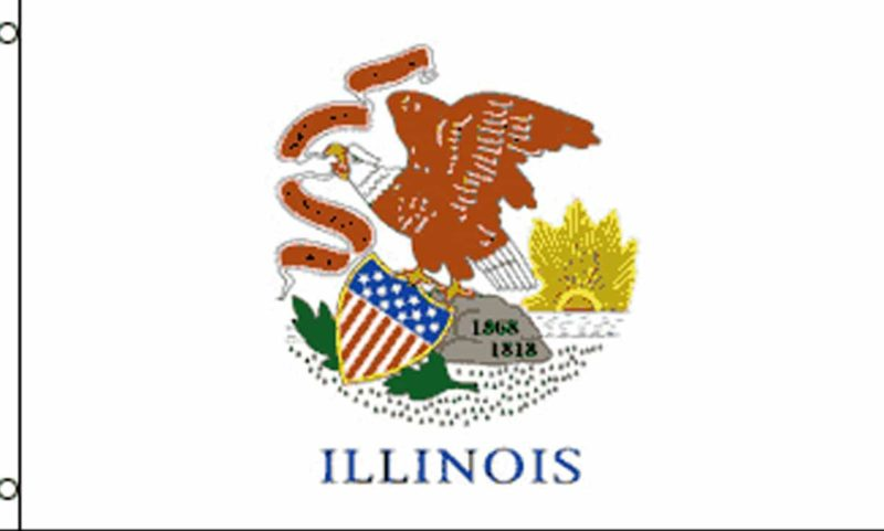 Illinois State Flag, State Flags, Illinois Flag, Illinois State