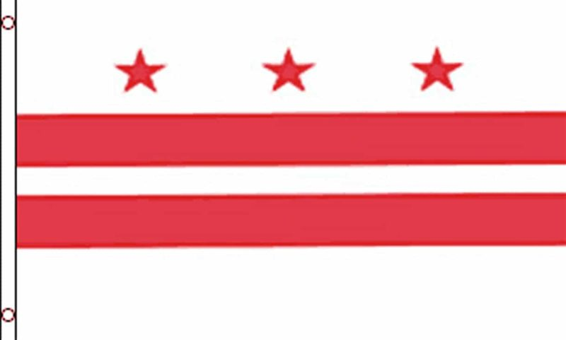 Washington DC District of Columbia Flag, State Flags, District of Columbia Flag