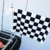 Motorcycle Flagpole with Black and White Checkered Flag, Motorcycle Flagpole with USA Flag, Motorcycle Flagpoles and Flags, Motorcycle Flags, Harleys, Motorcycles