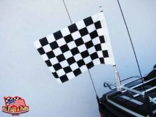 Motorcycle Flagpole with Black and White Checkered Flag, Motorcycle Flagpoles with USA Flag, Motorcycle Flagpole and Flags, Motorcycle Flags, Harleys, Motorcycles