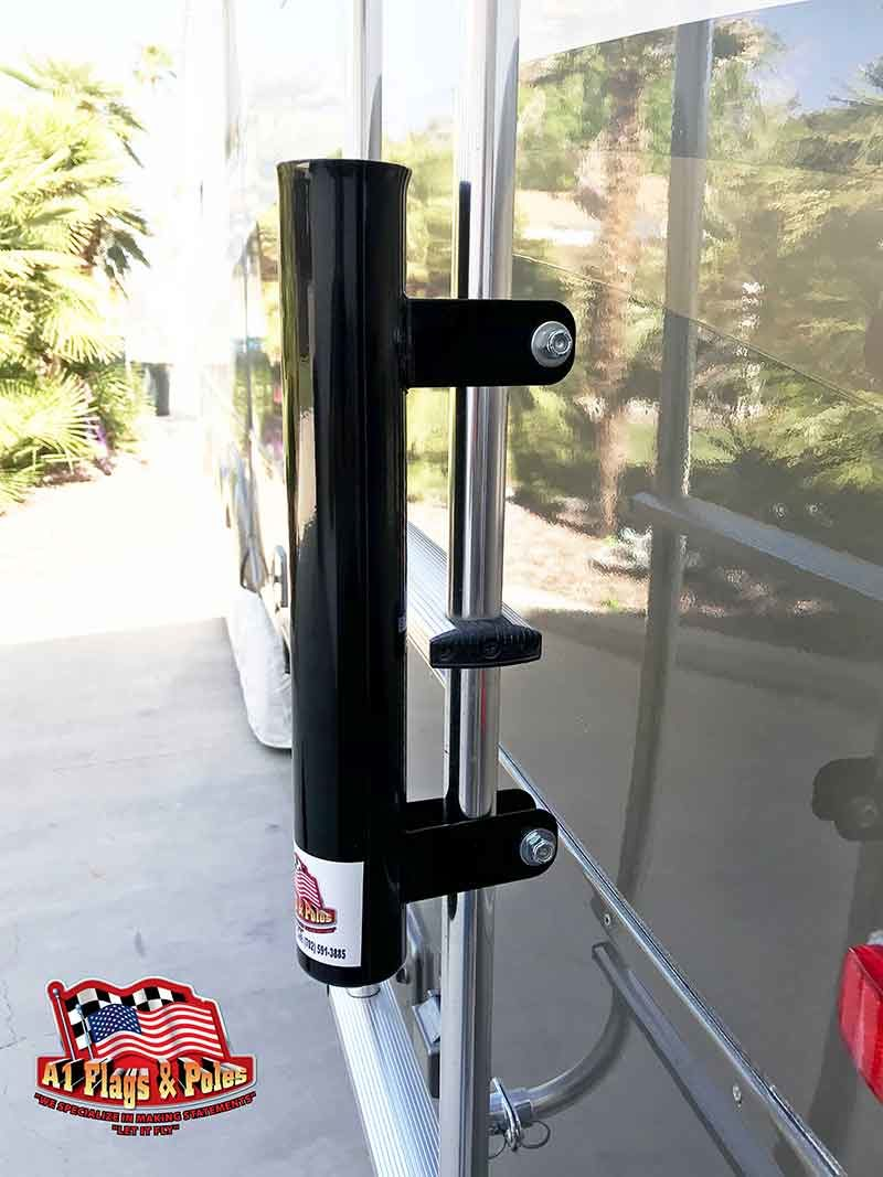 Ladder Flagpole Mount Black, RV Flagpole Ladder Mount Black, Flagpole Ladder Mount Black, RV Ladder Mount Black, Black Ladder Mount