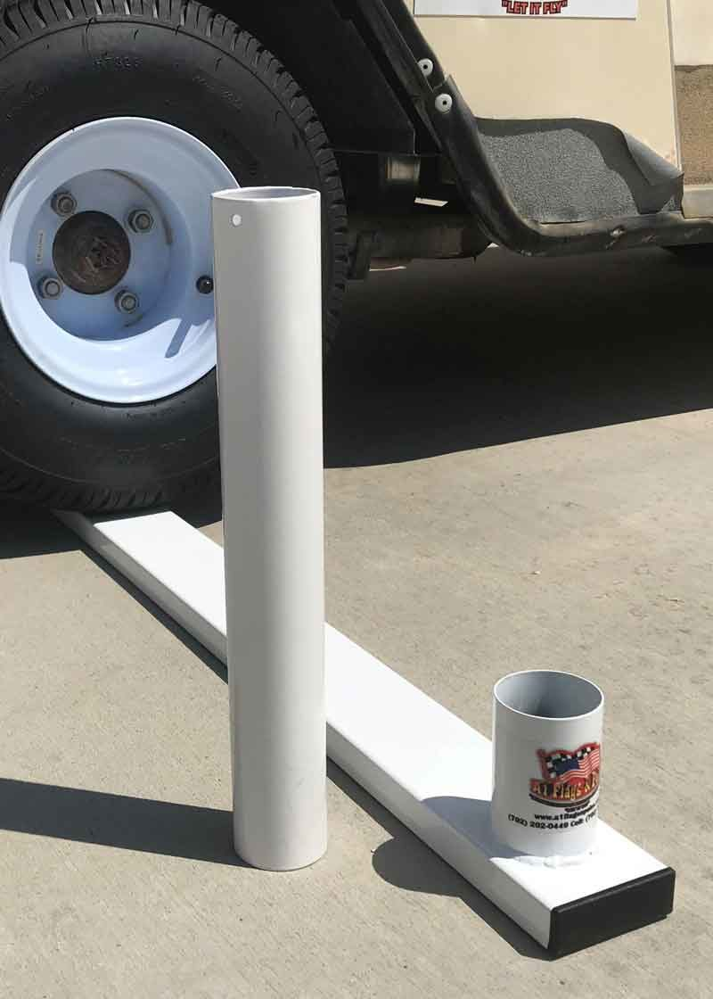 flagpole tire mount, tire mount, flagpole mount, tire flagpole mount, rv flagpole tire mount